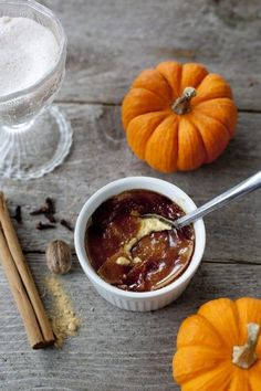 A simple alternative to pumpkin pie is this amazing dessert; a silky pumpkin custard topped with a crisp crust of melted spiced sugar. Pumpkin Creme Brulee, Pumpkin Custard, Pumpkin Bread, Pumpkin Spice, Pumpkin Recipes, Fall Recipes, Holiday Recipes, Holiday Foods, Potato Recipes