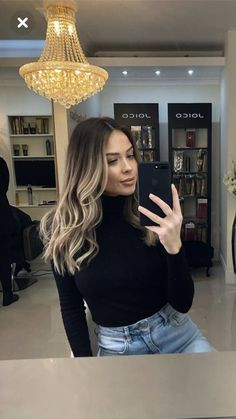 Dyed Blonde Hair, Brown Hair Balayage, Hair Highlights, Hair Color And Cut, Hair Looks, Hair Inspiration, Hair Makeup, Hair Cuts, Hair Beauty