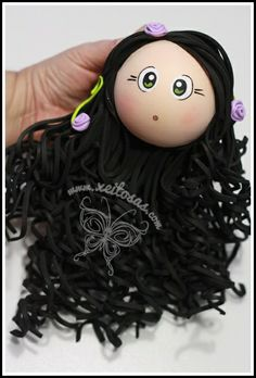 love the hair (photo only).love the LONG curly hair Long Curly Hair, Curly Hair Styles, Foam Crafts, Arts And Crafts, Doll Head, Hair Photo, Creative Crafts, Art Dolls, Mousse