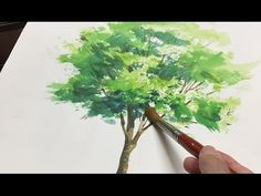 [ Eng sub ] Watercolor Tree Painting easy tutorial #1 水彩画の基本 〜樹木を描くコツ - YouTube