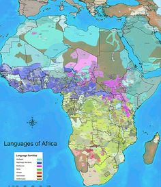 Languages of Africa  It's important to see Africa in a way that gets beyond the arbitrary borders imposed by European colonialism. In the above map, each shade is a language, and each color is a group of languages. You can see that a number of the borders, such as in Kenya or Cameroon or Nigeria, overlap big swathes of people who speak entirely different language families.  Data source: World Language Mapping System/Ethnologue. (Steve Huffman/WorldGeoDatasets)
