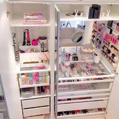 23 Ideas for makeup storage ikea pax wardrobe Vanity Organization, Organization Hacks, Organizing, Storage Organizers, Armoire Pax, Rangement Makeup, Make Up Storage, Storage Ideas, Storage Hacks