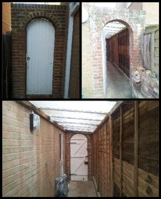 Image result for building roof and door onto side alley at back of house