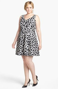 Taylor Dresses Polka Dot Fit & Flare Dress (Plus Size) available at #Nordstrom