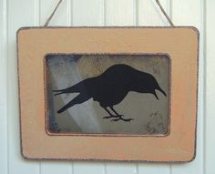 Raven antiqued mirror from www.BusterJustis.Etsy.com #rustic