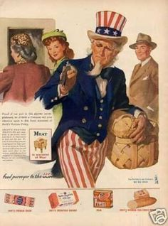 1940's Ad.  Very Patriotic.