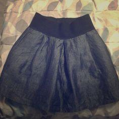 Final Sale, Zara Skirt! Skirt looks like jean material. Gently worn but in great condition. Zara Skirts