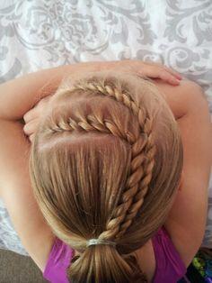 "twists into a ponytail  ♡  thank you @Mindy Burton Burton Burton Burton ""Cute Girls Hairstyles"""