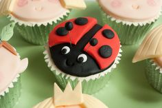 Gaston Ladybird Cupcake - Ben and Holly's Little Kingdom | Flickr - Photo Sharing!