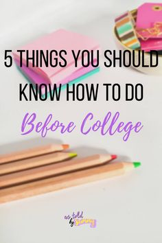Moving out on your own: the most beautiful experience a young person can have. Unless you don't know how to live on your own. Even though it's just college, there are many practical things you…