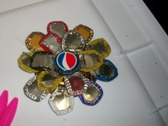 DIY Bottle Cap Flower