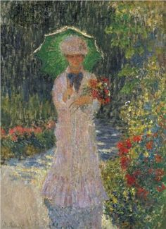 Camille with Green Parasol - Claude Monet