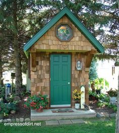 Gallery of best garden sheds. It's all in the details: see how they used the window, siding, and green paint to make this little shed so cute. Get more ideas for your shed.