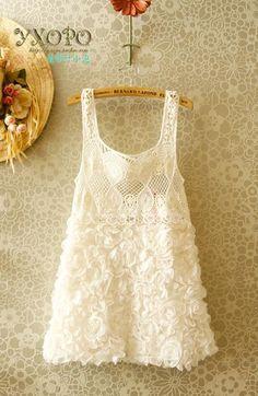 chiffon lace stitching dress - http://zzkko.com/note/69708 $10.83
