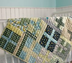 Blue Elephant Stitches - this is also a good example of simple straight line quilting.