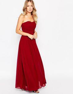 Image 1 of Y.A.S Molly Bandeau Maxi Dress Šaty Pro Družičky 68f6f9725a0