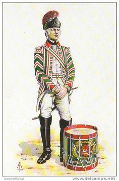 British; 15th Light Dragoons, Drummer 1760 by Alix Baker