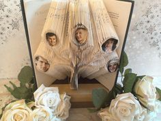 Book folding pattern Family tree ability to add photos Book art, book folding art Diy book folding pattern gift
