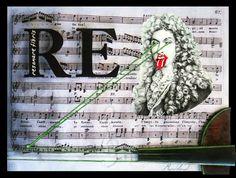 """RE (Resonare fibris)  Collage y óleo sobre tabla intervenida con impresión digital y sección de Violín.  30x40  Obra de la serie """"7 notas"""" del proyecto SEPTIES SEPTEM. http://septiesseptem.blogspot.com.es/"""