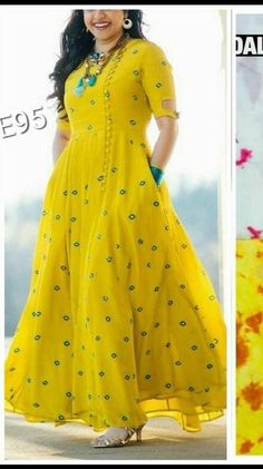 Hit Designer Wear Kurtis from Fitabouts Dress Indian Style, Indian Fashion Dresses, Indian Designer Outfits, Pakistani Clothing, Frock Fashion, Fashion Outfits, Long Gown Dress, Long Frock, Long Dress Design