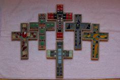 Crosses Mosaic Glass Art by Diane Morizio - Mosaic Crosses Fine Art ...