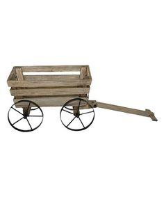 Wood wagon planter