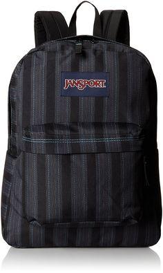 Amazon.com  JanSport Superbreak Backpack - Mammoth Blue Pinstripe   16.7H x  13W x 8.5D  Sports   Outdoors ea17ac9442