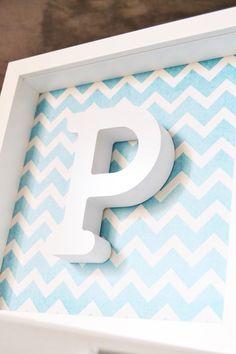 Bonito cuadro con la inicial de los peques de la casa, para decorar su habitacióm