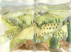 Jane Allsopp's Italy Sketch Journal (we must have stayed in the same area because I did this exact scene in 2004, ha!)