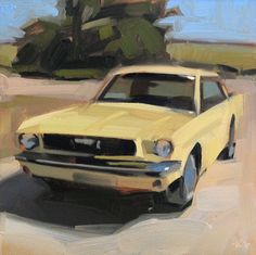 Yellow Mustang by Carol Marine