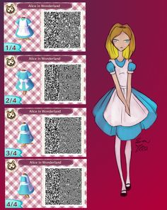 Alice In Wonderland: Animal Crossing qr code by AndrogynousOne
