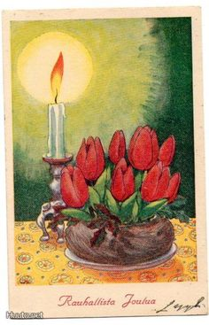 Björklind Hans - Google otsing Christmas Crafts, Merry Christmas, Xmas Cards, Vintage Images, Diy, Painting, Finland, Stamps, Decor