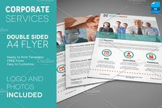 A4 Double sided corporate flyer by Illusiongraphic on @creativemarket