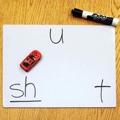 """""""Drive-Thru Blending"""" Get students excited about phonics! Children say letter-sounds as they 'driving a car' through them and blend them. It's incredible to see how quickly this decoding game catches on!"""