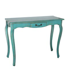 Look at this Blue Sofa Table on #zulily today!
