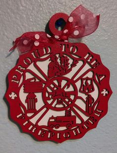 Hey, I found this really awesome Etsy listing at https://www.etsy.com/listing/184874853/proud-to-be-a-firefighter-ornament