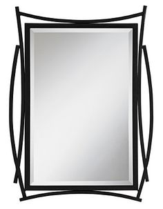 You're sure to turn heads with this Brutus wall mirror. Its bold black metal frame is crafted with both straight lines and curves, making the mirror ideal for casual or contemporary decor.