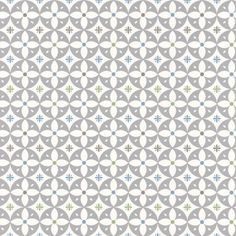 Flower Breeze  (LF1041) - Layla Faye Wallpapers - An all over wallpaper design, featuring a repeated flower motif, creating a tile effect when hung. Shown here in the grey cadet  colourway. Other colourways are available. Please request a sample for a true colour match. Paste-the-wall product.