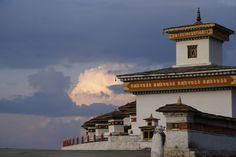 108 Stupas. Top of Dochula Pass, Bhutan