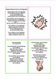 The number Sångkort om kroppen. The number 4 - Preschool Classroom, Preschool Worksheets, Preschool Activities, Learn Swedish, Swedish Language, The Number 4, Educational Activities For Kids, Kids Songs, Pre School