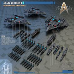 AC-507 Mk I Reaver Federation Warp Fighter by Auctor-Lucan