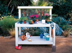 Backyard Potting Center | Download free plans for this good-looking workbench