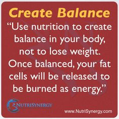 Create Balance In Your Body