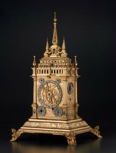 *1625-1650 German (Augsburg) Clock at the Museum of Fine Arts, Boston - This clock looks stunning - which is why I chose the high-resolution photo to best display it.