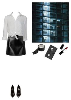 """""""return"""" by venusinvelvet ❤ liked on Polyvore featuring Philosophy di Lorenzo Serafini, Charlotte Russe, Yves Saint Laurent, Luckies, 90s and 80s"""