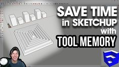 In this SketchUp quick tip, learn to use the tool memory in SketchUp to quickly repeat functions over and over again to save time! 3d Interior Design Software, Wood Working, Essentials, Sketch, Tutorials, Interiors, Memories, Tools, Education