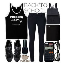 """""""#PVxPusheen"""" by j-n-a ❤ liked on Polyvore featuring Pusheen, Frame Denim, adidas, OPI, Casetify, ZeroUV, contestentry and PVxPusheen"""