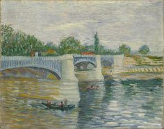 Lluis Ribes Mateu - The Bridge at Courbevoie, 1887