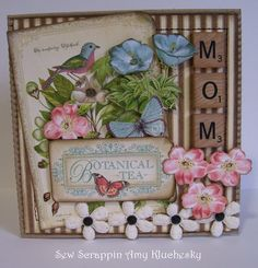 MOM card by Amy Kluchesky using Graphic 45 Botanical Tea.