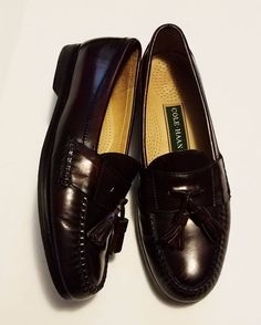 Cole Haan Mens Shoes Cordovan Tassel Loafers Green Label Size 9.5 B NICE #ColeHaan #LoafersSlipOns